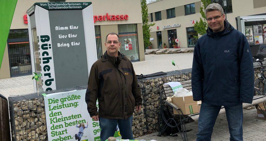 Robert Bausdorf (links) setzt sich für mehr Bürgerbeteiligung im Netz ein,  Andreas Zander für bessere Rad- und ÖPNV-Verbindungen.