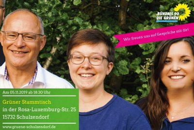 Einladung Grüner Stammtisch Bündnis90/Die Grünen Schulzendorf